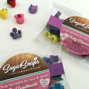 sugar snaps hair barrettes for dreadlocks, braids & twists