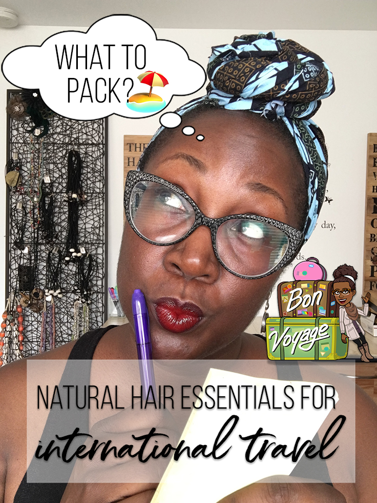 natural hair travel essentials