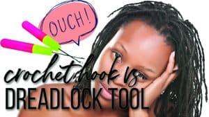 crochet hook vs. dreadlock interlocking tool