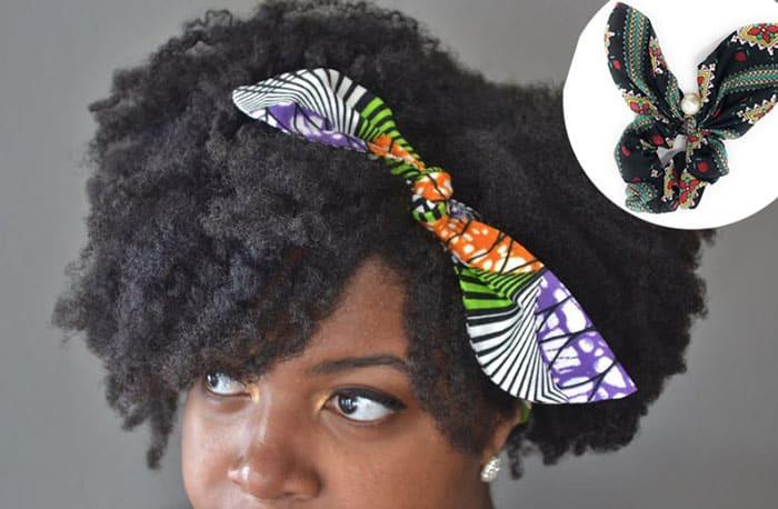 ankara print hair scarf