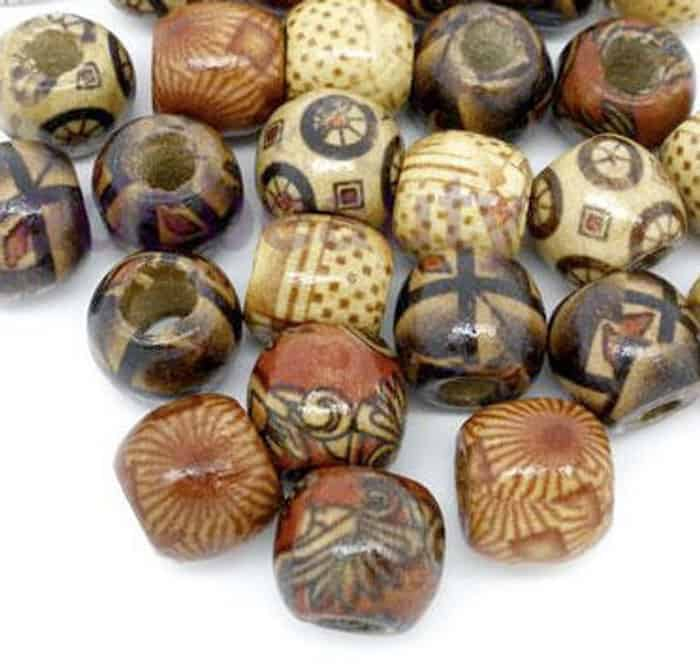 wooden beads for hair